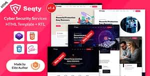 Seqty – Cyber Security Services Company HTML Template