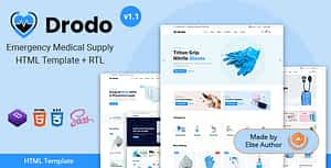 Drodo – Medical Supply eCommerce HTML Template