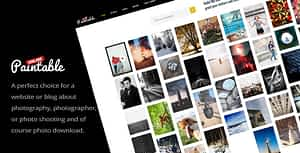 Paintable – Photography and Blog / Photos Download WordPress…