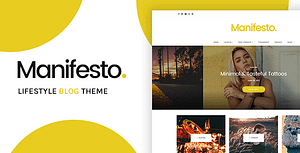 Manifesto – Lifestyle Blog WordPress Theme
