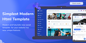 Simplest – Online Community HTML Template