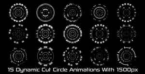 Dynamic Cut Circle Elements Pack_01 | After Effects Project