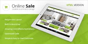 Online Sale – Responsive HTML5 eCommerce Template