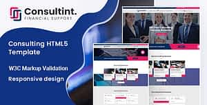 Consultint – Business, Finance Html Template