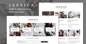 Jessica – Simple & Elegant Personal WordPress Theme