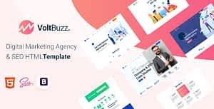 VoltBuzz – Digital Marketing Agency HTML Template