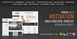Motivation – Responsive Single Page HTML Template