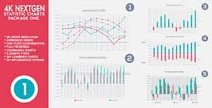 4K NextGen Resizable Statistics Charts Pack One | After Effects Project