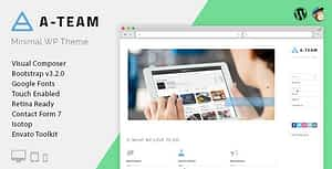 A-TEAM – Minimal Personal Blogging WordPress Theme
