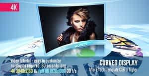 Curved Display | After Effects Project