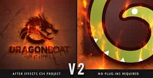 Epic Fire Logo After Effects Project
