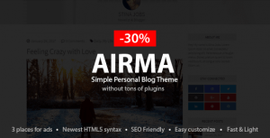 Airma – Personal Blog WordPress Theme