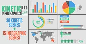 Kinetic Infographics Kit | After Effects Project