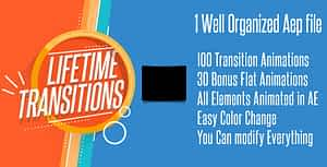 Lifetime Transitions Pack   After Effects Project