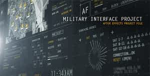 HUD Military Interface Project | After Effects Project