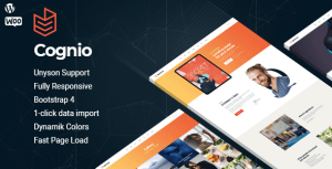 Cognio – Modern E-book Promo WordPress theme