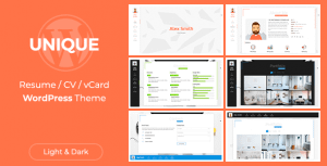 Unique | vCard Theme