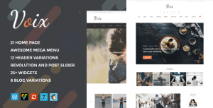 Voix – Personal Blogging WordPress Theme for Storytellers
