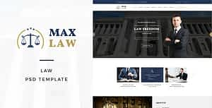 Max Law – Lawyer & Attorney HTML Template