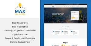 Max Electric – Responsive HTML Template