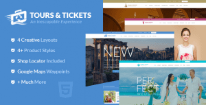 Tours & Tickets – HTML Template