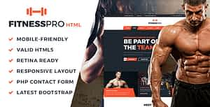 FitnessPro HTML Template
