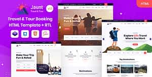 Jaunt – Travel & Tour Booking HTML Template