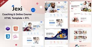 Jexi – Online Coaching & LMS HTML Template