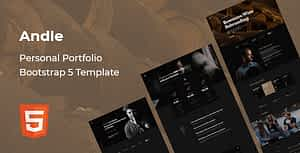 Andle – Personal Portfolio Bootstrap 5 Template