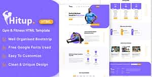 Hitup – Fitness and Gym HTML Template