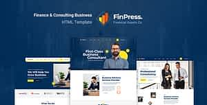 Finpress – Business Consulting HTML Template