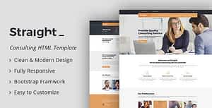 Straight – Business & Consulting HTML Template