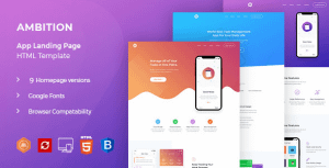 Ambition – App HTML Template