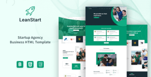 LeanStart – Startup Agency Business HTML Template