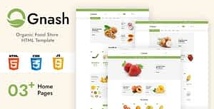 Gnash – Organic Food Store HTML Template
