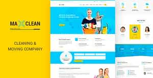Max Cleaners & Movers – HTML Template