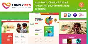 LonelyPro- Charity & Animal Protection Environment HTML Template