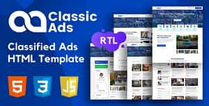 Classicads – Classified Ads HTML Template