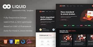 Liquid – Investment and Stock Broker HTML Template
