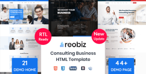 Reobiz – Consulting Business HTML Template