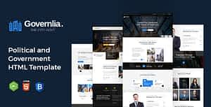 Governlia – Political and Government HTML Template