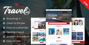 Travellia – Travel Landing One Page HTML Template