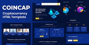 Coincap – Cryptocurrency ICO Landing Page HTML Template