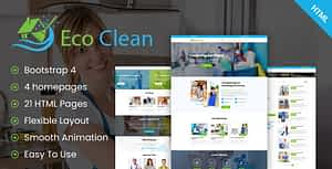 Eco Clean – Cleaning HTML Template