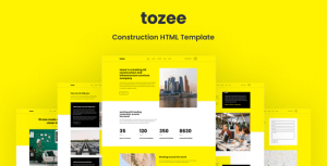 Tozee – Construction HTML Template