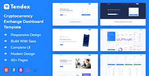 Tendex – Cryptocurrency Exchange HTML Template + Dashboard