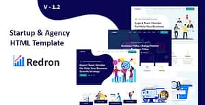 Redron – Startup &  Agency HTML template