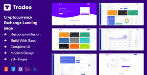 Tradee – Cryptocurrency Exchange HTML Template + Dashboard