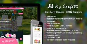 My Confetti – Kids Party Planner HTML Template