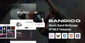 Bandico – HTML5 Music and Band Template